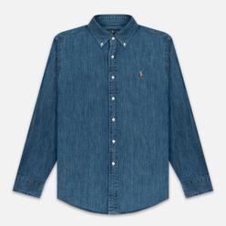 Мужская рубашка Polo Ralph Lauren Custom Fit Polo Pony Color Denim