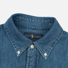 Мужская рубашка Polo Ralph Lauren Custom Fit Polo Pony Color Denim фото- 1