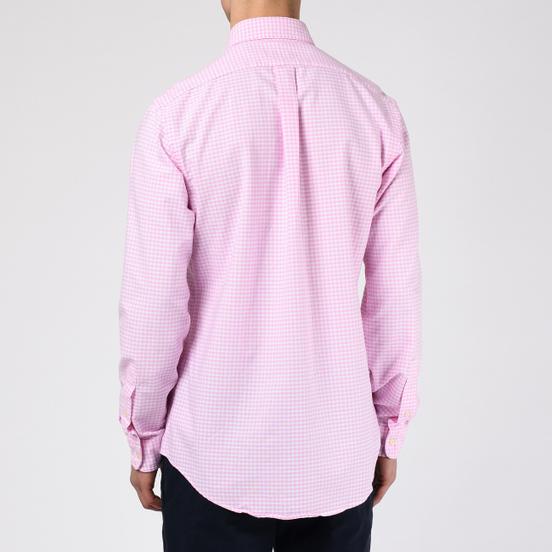 Мужская рубашка Polo Ralph Lauren Custom Fit Polo Pony Color Mini Logo Oxford Pink/White