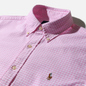 Мужская рубашка Polo Ralph Lauren Custom Fit Polo Pony Color Mini Logo Oxford Pink/White фото - 1