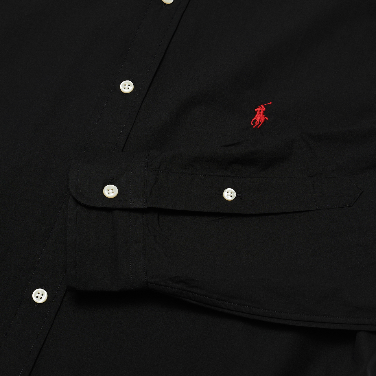Мужская рубашка Polo Ralph Lauren Custom Fit Polo Pony Color Natural Stretch Poplin Black