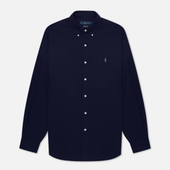 Мужская рубашка Polo Ralph Lauren Custom Fit Polo Pony Color Natural Stretch Poplin Newport Navy