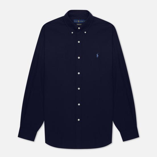 Мужская рубашка Polo Ralph Lauren Custom Fit Polo Pony Color Natural Stretch Poplin Newport Navy