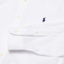 Мужская рубашка Polo Ralph Lauren Custom Fit Polo Pony Color Natural Stretch Poplin White фото- 3
