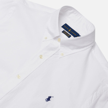 Мужская рубашка Polo Ralph Lauren Custom Fit Polo Pony Color Natural Stretch Poplin White фото- 0