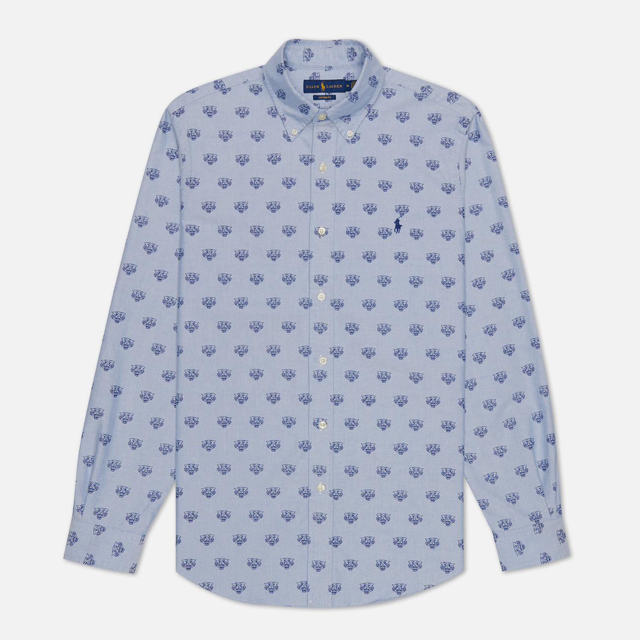Мужская рубашка Polo Ralph Lauren Custom Fit Polo Pony Color Printed Oxford Collegiate Tigers