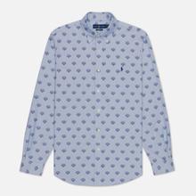 Мужская рубашка Polo Ralph Lauren Custom Fit Polo Pony Color Printed Oxford Collegiate Tigers фото- 0