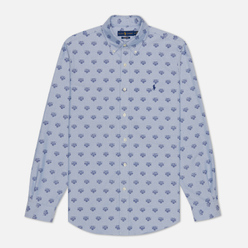 Мужская рубашка Polo Ralph Lauren Custom Fit Polo Pony Color Printed Oxford Collegiate Tigers