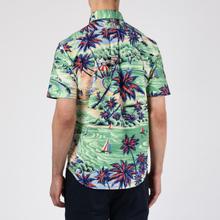 Мужская рубашка Polo Ralph Lauren Custom Fit SS Polo Pony Color Printed Oxford Hawaiian Beach Bazaar фото- 3