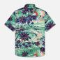 Мужская рубашка Polo Ralph Lauren Custom Fit SS Polo Pony Color Printed Oxford Hawaiian Beach Bazaar фото - 0