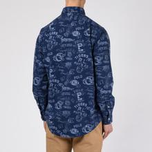 Мужская рубашка Polo Ralph Lauren Custom Fit Printed Oxford Varsity Stamp фото- 3