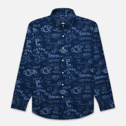 Мужская рубашка Polo Ralph Lauren Custom Fit Printed Oxford Varsity Stamp