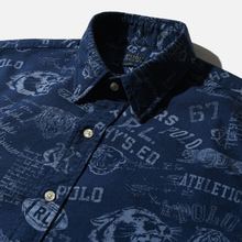 Мужская рубашка Polo Ralph Lauren Custom Fit Printed Oxford Varsity Stamp фото- 1