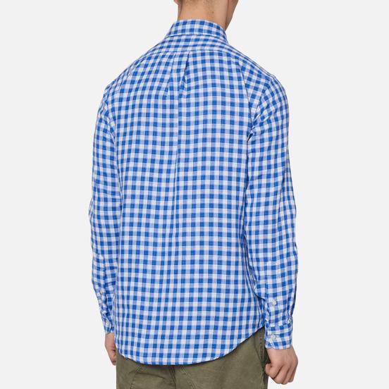 Мужская рубашка Polo Ralph Lauren Double Face Oxford Blue/White