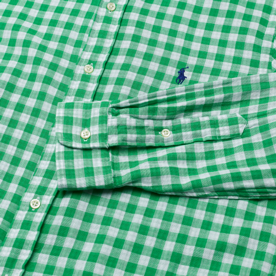Мужская рубашка Polo Ralph Lauren Double Face Oxford Green/White