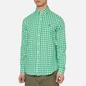 Мужская рубашка Polo Ralph Lauren Double Face Oxford Green/White фото - 3