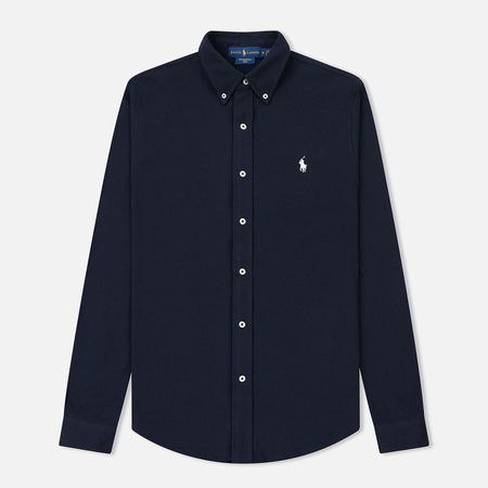 Мужская рубашка Polo Ralph Lauren Featherweight Mesh Oxford Aviator Navy