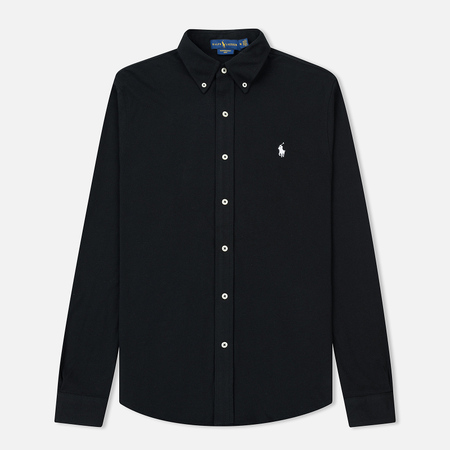 Мужская рубашка Polo Ralph Lauren Featherweight Mesh Oxford Black