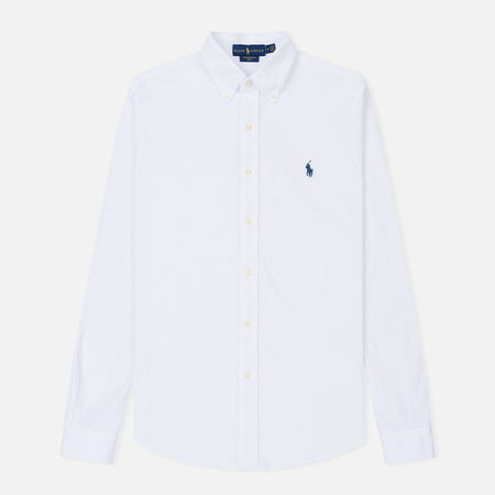 Мужская рубашка Polo Ralph Lauren Featherweight Mesh Oxford White