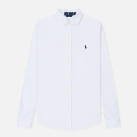 Мужская рубашка Polo Ralph Lauren Featherweight Mesh Oxford White