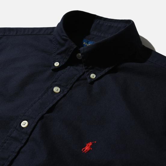 Мужская рубашка Polo Ralph Lauren Garment Dyed Oxford Navy