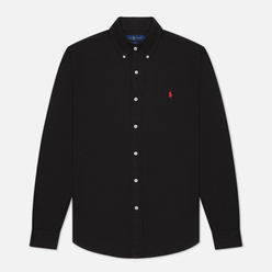Мужская рубашка Polo Ralph Lauren Garment Dyed Oxford Slim Fit Black