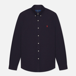 Мужская рубашка Polo Ralph Lauren Garment Dyed Oxford Slim Fit Navy