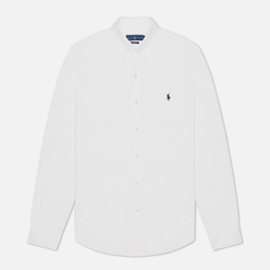 Мужская рубашка Polo Ralph Lauren Garment Dyed Oxford Slim Fit White