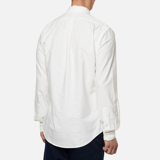 Мужская рубашка Polo Ralph Lauren Garment Dyed Oxford Slim Fit White