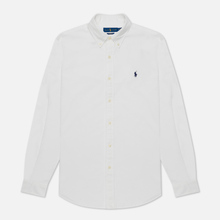 Мужская рубашка Polo Ralph Lauren Garment Dyed Oxford White фото- 2