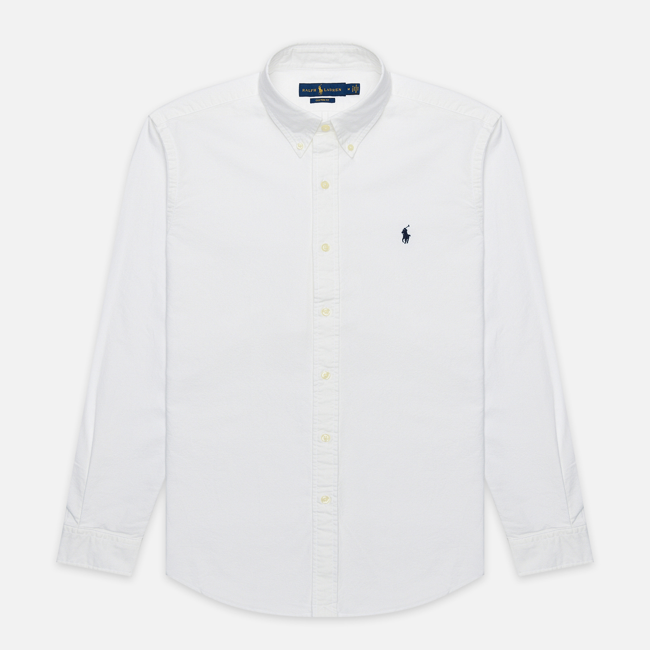 Мужская рубашка Polo Ralph Lauren Garment Dyed Oxford White
