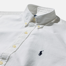 Мужская рубашка Polo Ralph Lauren Garment Dyed Oxford White фото- 1