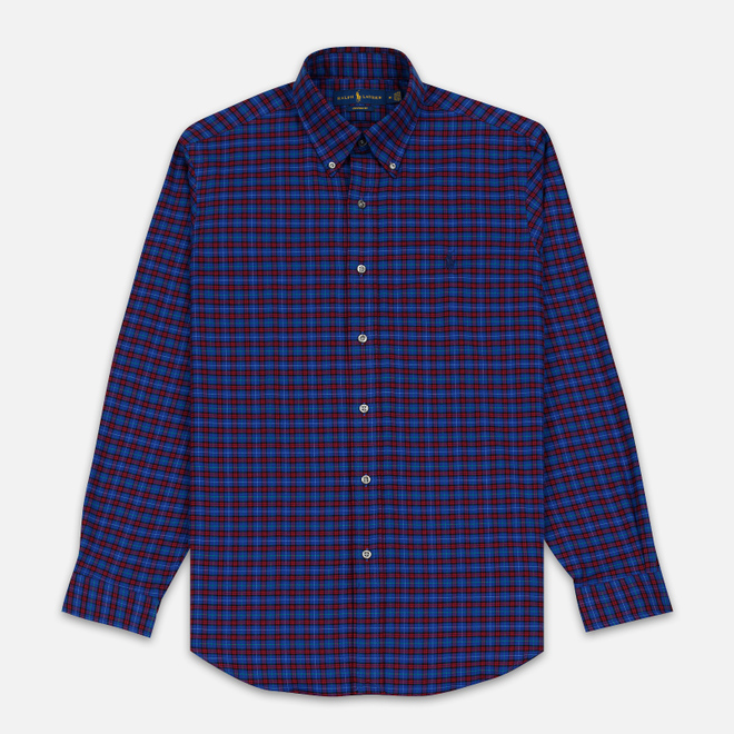 Мужская рубашка Polo Ralph Lauren Light Weight Twill Button Down Crimson/Royal Multi