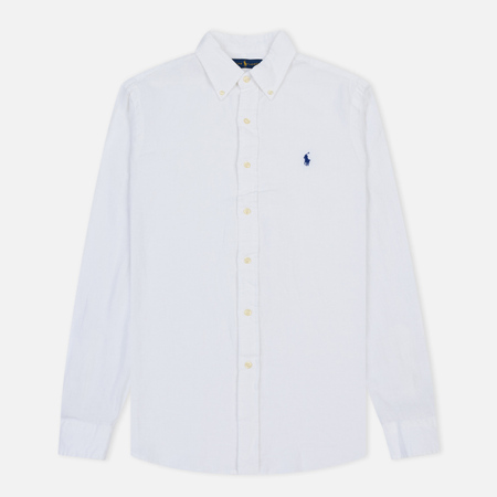 Мужская рубашка Polo Ralph Lauren Linen Oxford Pure White