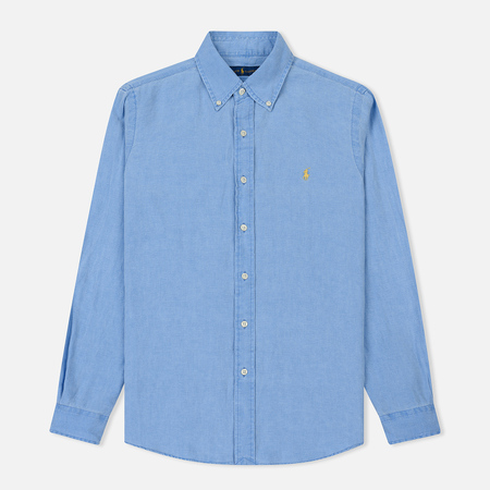 Мужская рубашка Polo Ralph Lauren Linen Oxford Riviera Blue