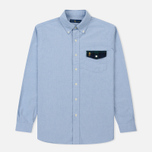 Мужская рубашка Polo Ralph Lauren Logo Scull & Crossbone Pocket Oxford Blue фото- 0