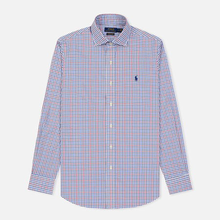 Мужская рубашка Polo Ralph Lauren Natural Strech Poplin Blue/Red