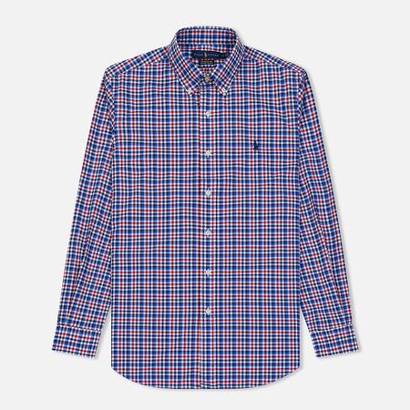 Мужская рубашка Polo Ralph Lauren Natural Strech Poplin Navy/Multicolor