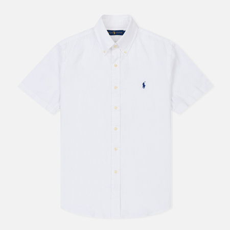 Мужская рубашка Polo Ralph Lauren Oxford Linen Slim Fit Pure White