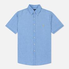 Мужская рубашка Polo Ralph Lauren Oxford Linen Slim Fit Riviera Blue фото- 0