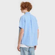 Мужская рубашка Polo Ralph Lauren Oxford Linen Slim Fit Riviera Blue фото- 2