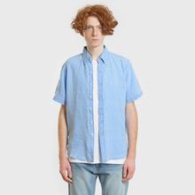 Мужская рубашка Polo Ralph Lauren Oxford Linen Slim Fit Riviera Blue фото- 1