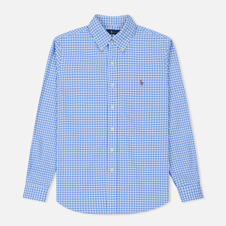 Мужская рубашка Polo Ralph Lauren Oxford Plaid Cabana/White