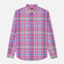 Мужская рубашка Polo Ralph Lauren Oxford Plaid Horizon Pink/Blue Multi фото- 0