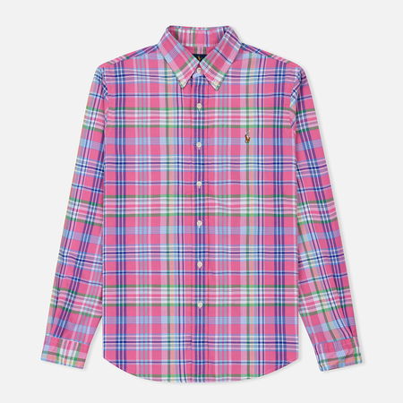 Мужская рубашка Polo Ralph Lauren Oxford Plaid Horizon Pink/Blue Multi