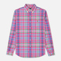 Мужская рубашка Polo Ralph Lauren Oxford Plaid Horizon Pink/Blue Multi фото - 0