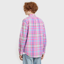 Мужская рубашка Polo Ralph Lauren Oxford Plaid Horizon Pink/Blue Multi фото- 2
