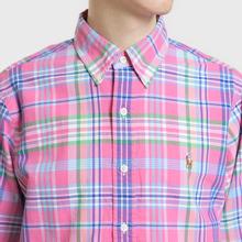 Мужская рубашка Polo Ralph Lauren Oxford Plaid Horizon Pink/Blue Multi фото- 3