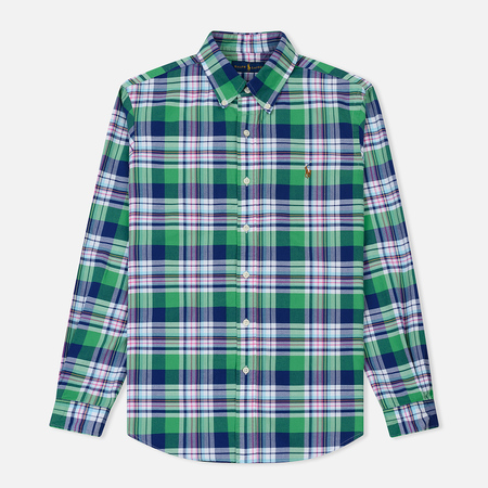 Мужская рубашка Polo Ralph Lauren Oxford Plaid Lime/Navy Multi