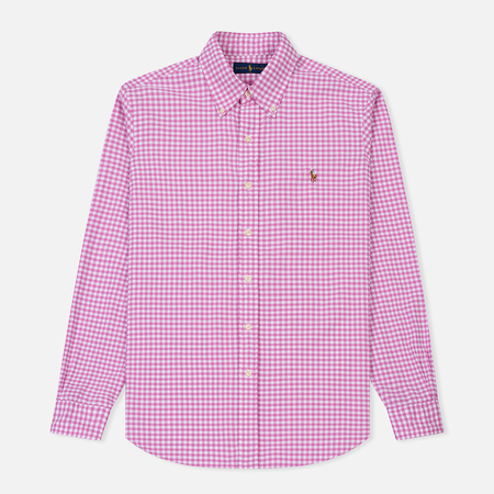 Мужская рубашка Polo Ralph Lauren Oxford Plaid Rose/White